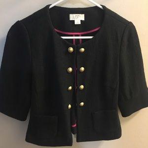 LOFT, grey blazer with gold buttons